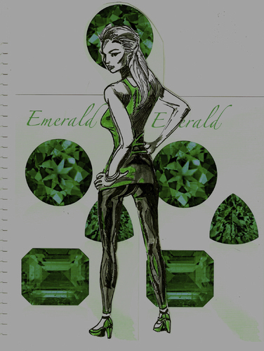 Cartoon: AGENT EMERALD (medium) by Toonstalk tagged catsuit,id,emerald,sexy,agent