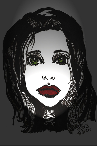Cartoon: GOTH (medium) by Toonstalk tagged gothic,dark,halloween,black,witch,scarey,creepy