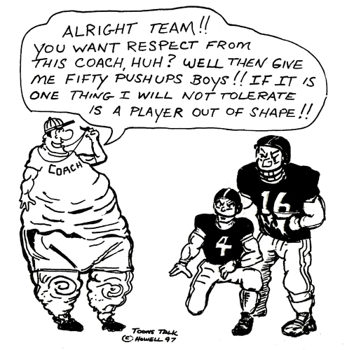 Cartoon: KEEP IN SHAPE (medium) by Toonstalk tagged football,fat,coaches,nfl
