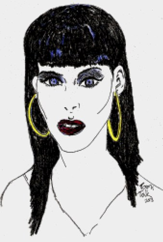Cartoon: Nelly Furtado (medium) by Toonstalk tagged celebrity,songbird,pop,musician,performer,singer