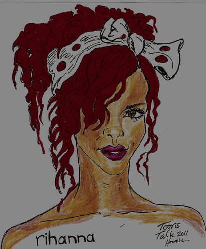 Cartoon: RIHANNA (medium) by Toonstalk tagged rihanna,performer,singer,sandm,beautiful,girl,diva