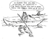 Cartoon: A KAYAKING FOOL (small) by Toonstalk tagged kayaking,water,sports,cheating