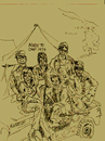 Cartoon: MASH TV (small) by Toonstalk tagged mash,comedy,tv,cast,hawkeye,trapper,hotlips,radar,frank,burns,col,1974