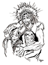 Cartoon: Savior (small) by Toonstalk tagged savior,christ,jesus,religion,easter,christian,bible,forsaken
