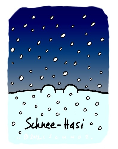Cartoon: Hasi 90 (medium) by schwoe tagged hasi,hase,schnee,weiß,schneienwinter,frost