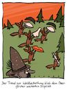 Cartoon: Waldbestattung (small) by schwoe tagged beerdigung,grab,wald,förster,friede,friedwald