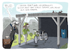 Cartoon: Alt und krank (small) by H Mercker tagged corvid,19,corona,sars,virus,tagesaktuell,cartoon,mercker,ehepaar,suv,geländewagen,fahrrad,natur,umwelt,umweltschutz,carport