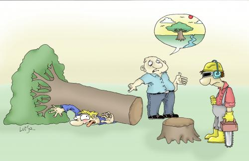 Cartoon: nature (medium) by Luiso tagged nature