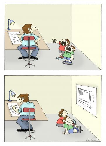 Cartoon: new children 2 (medium) by Luiso tagged childrens