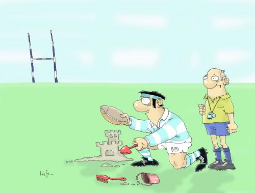 Cartoon: The Pumas (medium) by Luiso tagged rugby,