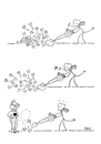 Cartoon: Blowin In The Wind (small) by piro tagged love,devil,leaves