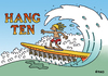 Cartoon: Hang Ten (small) by piro tagged hang,10,surfing,bats,water,sports,waves