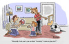 Cartoon: Poor Scratchy (small) by piro tagged dogs,family,ball,playing,children