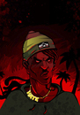 Cartoon: Ragga (small) by bkopf tagged bkopf,rasta,nazi,intolerant