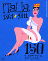 Cartoon: The 150th Anniversary of Italy (small) by Piero Tonin tagged piero,tonin,italy,italian,italians,italia,150,anniversary
