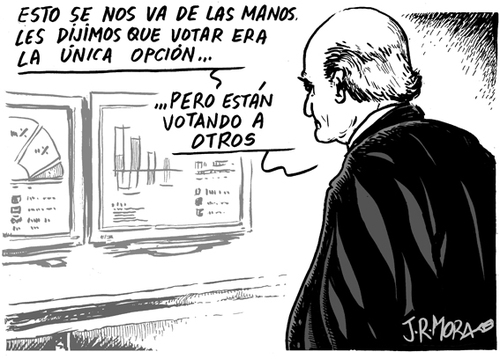 Cartoon: Elecciones (medium) by jrmora tagged spain,catalunya,votos,elecciones