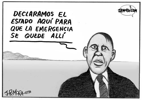 Cartoon: Estado de emergencia en Italia (medium) by jrmora tagged inmigracion,italia,inmigrantes,europa,berlusconi