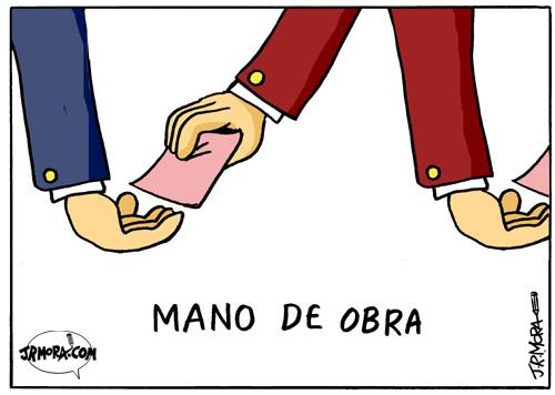 Cartoon: Mano de obra (medium) by jrmora tagged obra,especulacion,sobornos