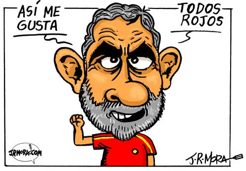 Cartoon: Spain campeon eurocopa 2008 (medium) by jrmora tagged europa,futbol,campeon,eurocopa,ganador