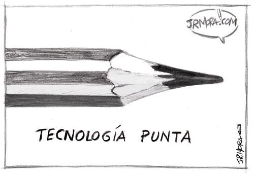 Cartoon: Tecnologia punta (medium) by jrmora tagged tecnologia,ideas