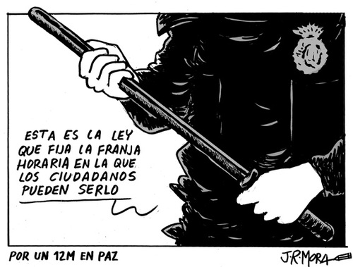 Cartoon: Violencia policial (medium) by jrmora tagged ciudadano,ley,policia