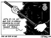 Cartoon: Violencia policial (small) by jrmora tagged ciudadano,ley,policia