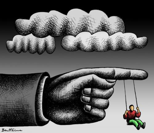 Cartoon: Childhood (medium) by BenHeine tagged childhood,authority,hand,cloud,youngster,balancoire,swing,enfance,small,baby,fun,terror,finger,doigt,show,play,game,jeu,sad,past,melancholy,nostalgia,kind,ben,heine,