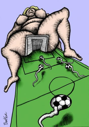 Cartoon: Find the GOAL (medium) by BenHeine tagged football,semen,sperm,spermatozoide,woman,legs,love,beat,talent,breast,ben,heine,feet,match,worldcup,soccer,team,goal,fun,play,competition,point,