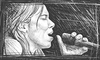 Cartoon: Lhasa de Sela - First Sketch (small) by BenHeine tagged lhasa,de,sela,drawing,sketch,singer,chanteur,songwriter,breast,cancer,woman,talent,mexico,us,canada,france,tribute,voice,micro,sing,chant,song,death,immortal,the,living,road,con,toda,palabra,la,llorona,rising,small,cara,pared,ben,heine,croquis