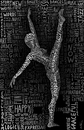 Cartoon: The Dancer (small) by BenHeine tagged the dancer woman grace harmony ben heine move body corps calligraphy typography dance femme sport art theartistery