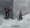 Cartoon: Facebook (small) by Farhad Foroutanian tagged media