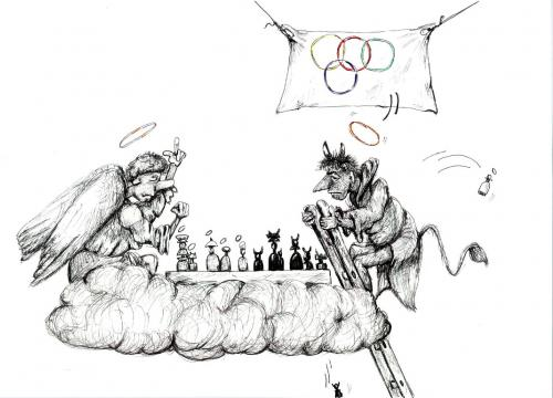 Cartoon: Olimpic games (medium) by bytoth tagged cartoon,