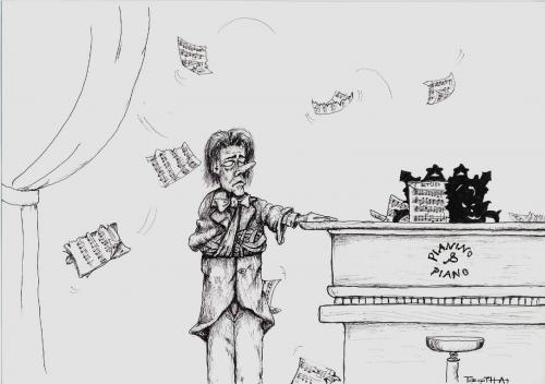 Cartoon: Piano concerto (medium) by bytoth tagged music,