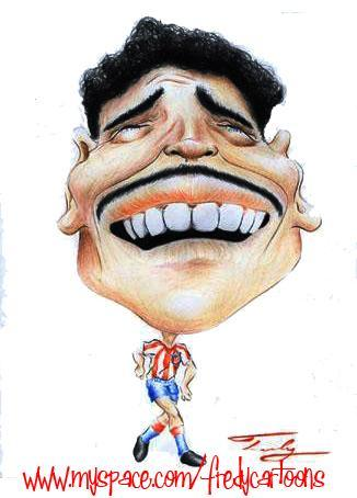 Cartoon: Chava reyes (medium) by Fredy tagged football