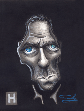 Cartoon: Dr House (medium) by Fredy tagged dr,house,houg,laurie