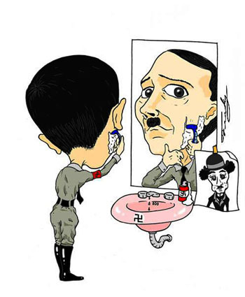 Cartoon: Hitler (medium) by Fredy tagged politics