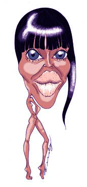Cartoon: Naomi Campbell (medium) by Fredy tagged model