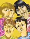 Cartoon: Beatles (small) by Fredy tagged beatles,music