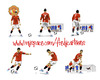 Cartoon: Cistiano Ronaldo in ManU (small) by Fredy tagged cristiano,ronaldo,manchester,united,football