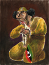 Cartoon: Gadafi Devouring His People (small) by Fredy tagged muammar,al,gadafi,libia