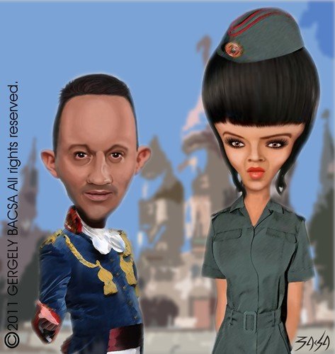 Cartoon: Alekosz and Olga (medium) by bacsa tagged alekosz,and,olga