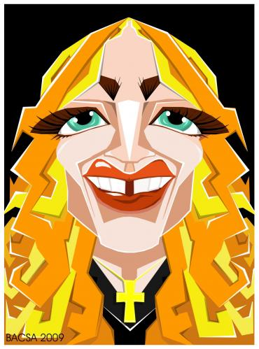 Cartoon: Madonna (medium) by bacsa tagged madonna