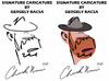 Cartoon: Chuck Norris (small) by bacsa tagged signature,caricature