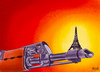 Cartoon: Paris (small) by bacsa tagged paris