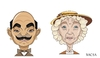 Cartoon: Poirot and Marple (small) by bacsa tagged poirot,and,marple