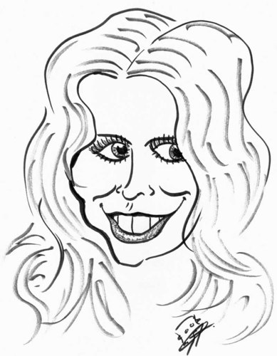 Cartoon: Claudia Schiffer (medium) by Clemens tagged claudia,schiffer,model,karikatur