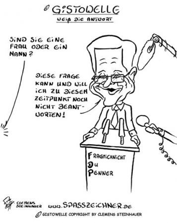 Cartoon: Guido Westerwelle Gistowelle (medium) by Clemens tagged guido,westerwelle