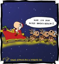 Cartoon: Herd angelassen (medium) by Clemens tagged weihnachtsmann