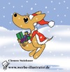 Cartoon: Weihnachten in Australien (small) by Clemens tagged weihnachtsmotiv