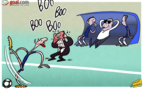 Cartoon: Coaching Chelsea is easy (medium) by omomani tagged rafael,benitez,torres,chelsea,avram,grant,lampard,john,terry